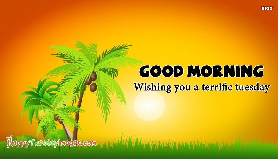 Good Morning. Wishing You A Terrific Tuesday