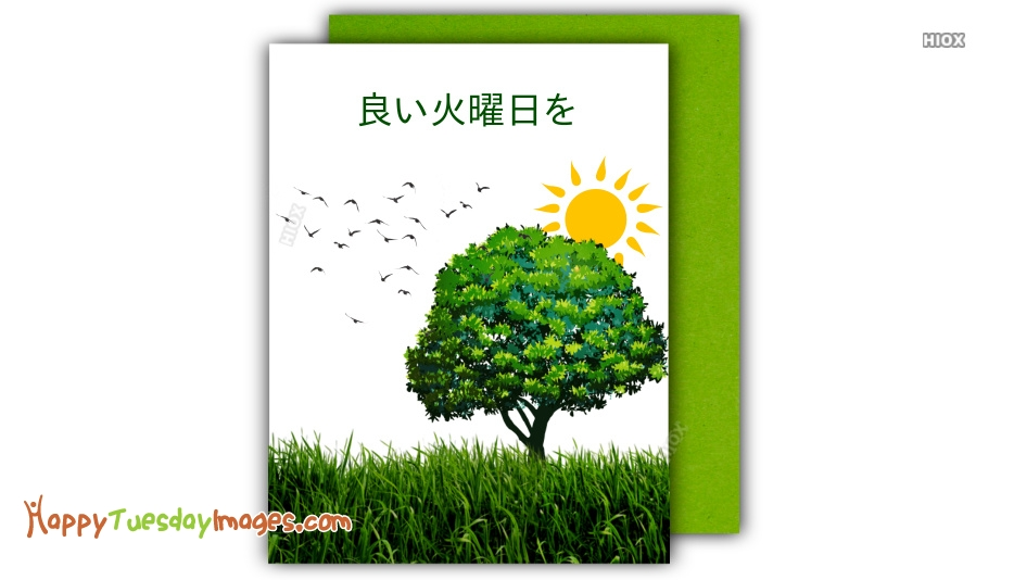 Happy Tuesday Images for Japanese