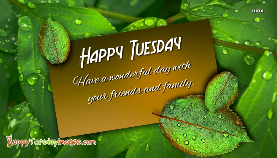 Happy Tuesday Friends And Family messages