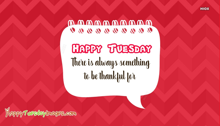 Happy Tuesday. There is Always Something To Be Thankful For