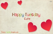 Happy Tuesday Cute