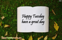 Have A Fantastic Tuesday