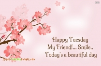 Happy Tuesday My Friend! Smile. Today