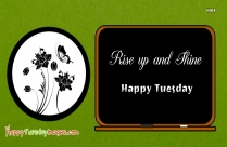 Happy Tuesday Image And Coffee Quote