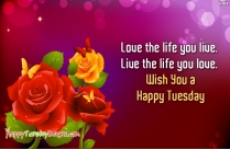 Happy Tuesday Sayings - Today Will